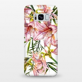 Galaxy S8+  Floral tropical pink by Mmartabc