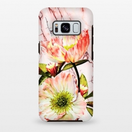 Galaxy S8 plus  Flowering on pink marble by