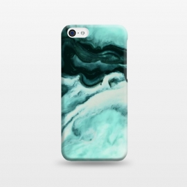 iPhone 5C  Abstract marbling mint by Mmartabc