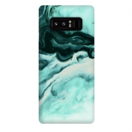 Galaxy Note 8  Abstract marbling mint by Mmartabc