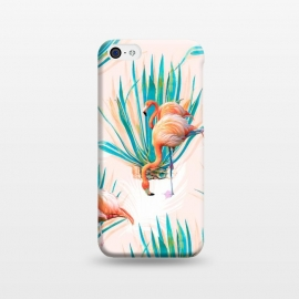 iPhone 5C  Anaglyph Flamingos with cactus by Mmartabc