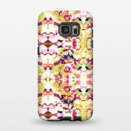 Galaxy S7 EDGE  Abstract floral mosaic I by Mmartabc