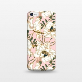 iPhone 5C  Exotic birds on flowers by Mmartabc