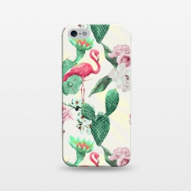 iPhone 5/5E/5s  Flamingos, geometric and flowers by Mmartabc