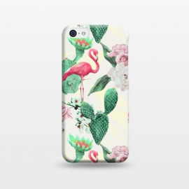 iPhone 5C  Flamingos, geometric and flowers by Mmartabc
