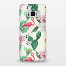 Galaxy S8+  Flamingos, geometric and flowers by Mmartabc