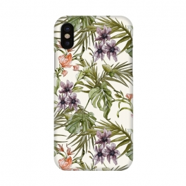 iPhone X  Watercolor tropical foliage by Mmartabc