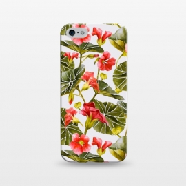 iPhone 5/5E/5s  Nasturtiums watercolor by Mmartabc