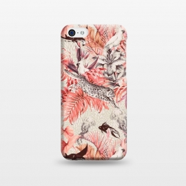 iPhone 5C  Tropical paradise pink 2  by Mmartabc
