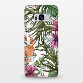 Galaxy S8+  Tropical tribal floral by Mmartabc