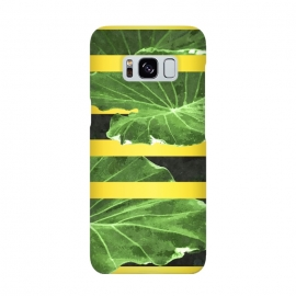Green Leaves and Gold Stripes by Alemi