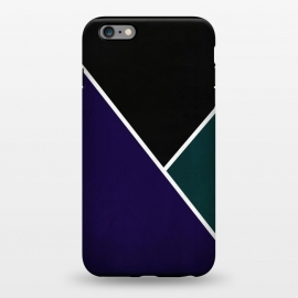 iPhone 6/6s plus  Noir Series - Deep Navy & Green by Nicklas Gustafsson (black,lines,noir,texture,grunge,colors,clean,classic,style,simplicity,navy,manly)