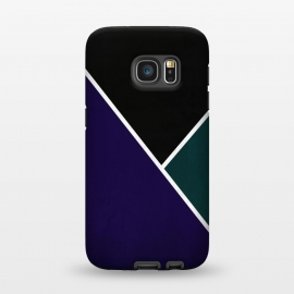 Galaxy S7  Noir Series - Deep Navy & Green by Nicklas Gustafsson (black,lines,noir,texture,grunge,colors,clean,classic,style,simplicity,navy,manly)
