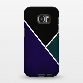 Galaxy S7 EDGE  Noir Series - Deep Navy & Green by Nicklas Gustafsson (black,lines,noir,texture,grunge,colors,clean,classic,style,simplicity,navy,manly)
