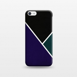iPhone 5C  Noir Series - Deep Navy & Green by Nicklas Gustafsson (black,lines,noir,texture,grunge,colors,clean,classic,style,simplicity,navy,manly)