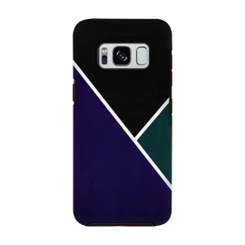 Galaxy S8  Noir Series - Deep Navy & Green by Nicklas Gustafsson (black,lines,noir,texture,grunge,colors,clean,classic,style,simplicity,navy,manly)