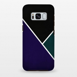 Galaxy S8+  Noir Series - Deep Navy & Green by Nicklas Gustafsson (black,lines,noir,texture,grunge,colors,clean,classic,style,simplicity,navy,manly)