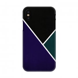 iPhone X  Noir Series - Deep Navy & Green by Nicklas Gustafsson (black,lines,noir,texture,grunge,colors,clean,classic,style,simplicity,navy,manly)