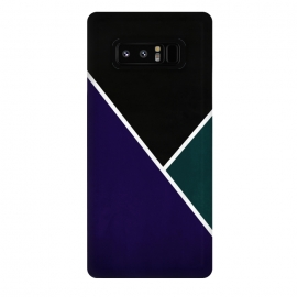 Galaxy Note 8  Noir Series - Deep Navy & Green by Nicklas Gustafsson (black,lines,noir,texture,grunge,colors,clean,classic,style,simplicity,navy,manly)