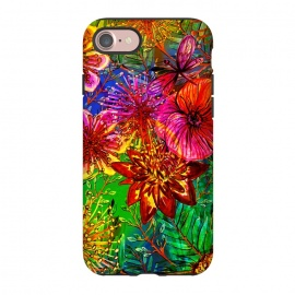 iPhone 8/7  Colorful Flower Jungle by Utart