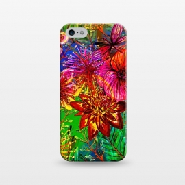 iPhone 5/5E/5s  Colorful Flower Jungle by Utart