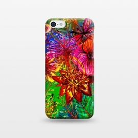 iPhone 5C  Colorful Flower Jungle by Utart