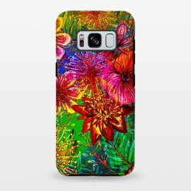 Galaxy S8 plus  Colorful Flower Jungle by