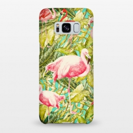 Galaxy S8+  Aloha Tropical Flamingo Jungle by Utart