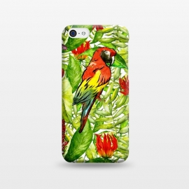 iPhone 5C  Aloha Parrot and Flower Jungle by Utart