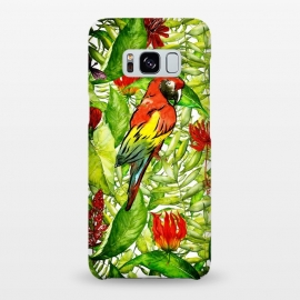 Galaxy S8+  Aloha Parrot and Flower Jungle by Utart