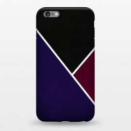 iPhone 6/6s plus  Noir Series - Deep Navy & Red by Nicklas Gustafsson (black,lines,noir,texture,grunge,colors,clean,classic,style,simplicity,wine,royal,navy)