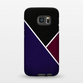 Galaxy S7  Noir Series - Deep Navy & Red by Nicklas Gustafsson (black,lines,noir,texture,grunge,colors,clean,classic,style,simplicity,wine,royal,navy)