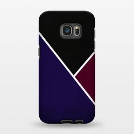 Galaxy S7 EDGE  Noir Series - Deep Navy & Red by Nicklas Gustafsson (black,lines,noir,texture,grunge,colors,clean,classic,style,simplicity,wine,royal,navy)