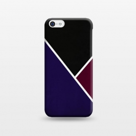 iPhone 5C  Noir Series - Deep Navy & Red by Nicklas Gustafsson (black,lines,noir,texture,grunge,colors,clean,classic,style,simplicity,wine,royal,navy)