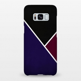Galaxy S8+  Noir Series - Deep Navy & Red by Nicklas Gustafsson (black,lines,noir,texture,grunge,colors,clean,classic,style,simplicity,wine,royal,navy)