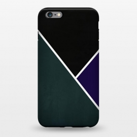 iPhone 6/6s plus  Noir Series - Forest & Deep Navy by Nicklas Gustafsson (black,lines,noir,texture,grunge,colors,clean,classic,style,simplicity,forest,moss,royal,navy)