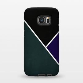 Galaxy S7  Noir Series - Forest & Deep Navy by Nicklas Gustafsson (black,lines,noir,texture,grunge,colors,clean,classic,style,simplicity,forest,moss,royal,navy)