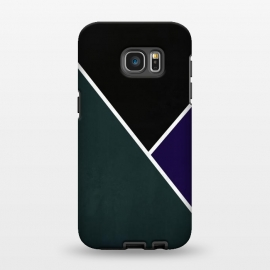 Galaxy S7 EDGE  Noir Series - Forest & Deep Navy by Nicklas Gustafsson (black,lines,noir,texture,grunge,colors,clean,classic,style,simplicity,forest,moss,royal,navy)