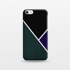 iPhone 5C  Noir Series - Forest & Deep Navy by Nicklas Gustafsson (black,lines,noir,texture,grunge,colors,clean,classic,style,simplicity,forest,moss,royal,navy)
