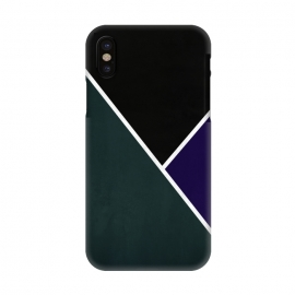 iPhone X  Noir Series - Forest & Deep Navy by Nicklas Gustafsson (black,lines,noir,texture,grunge,colors,clean,classic,style,simplicity,forest,moss,royal,navy)
