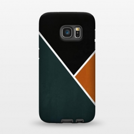 Galaxy S7  Noir Series - Forest & Orange by Nicklas Gustafsson (black,lines,noir,texture,grunge,colors,clean,classic,style,simplicity,forest,moss,murky)