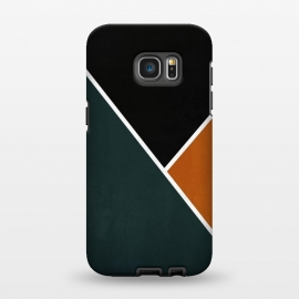 Galaxy S7 EDGE  Noir Series - Forest & Orange by Nicklas Gustafsson (black,lines,noir,texture,grunge,colors,clean,classic,style,simplicity,forest,moss,murky)