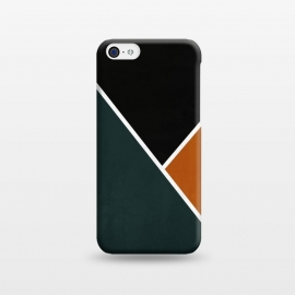 iPhone 5C  Noir Series - Forest & Orange by Nicklas Gustafsson (black,lines,noir,texture,grunge,colors,clean,classic,style,simplicity,forest,moss,murky)