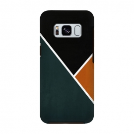 Galaxy S8  Noir Series - Forest & Orange by Nicklas Gustafsson (black,lines,noir,texture,grunge,colors,clean,classic,style,simplicity,forest,moss,murky)