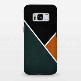 Galaxy S8+  Noir Series - Forest & Orange by Nicklas Gustafsson (black,lines,noir,texture,grunge,colors,clean,classic,style,simplicity,forest,moss,murky)