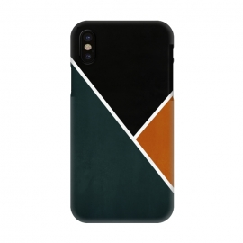 iPhone X  Noir Series - Forest & Orange by Nicklas Gustafsson (black,lines,noir,texture,grunge,colors,clean,classic,style,simplicity,forest,moss,murky)