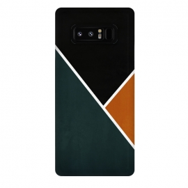 Galaxy Note 8  Noir Series - Forest & Orange by Nicklas Gustafsson (black,lines,noir,texture,grunge,colors,clean,classic,style,simplicity,forest,moss,murky)