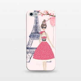 iPhone 5/5E/5s  Trendy Girl in Spring in Paris by DaDo ART