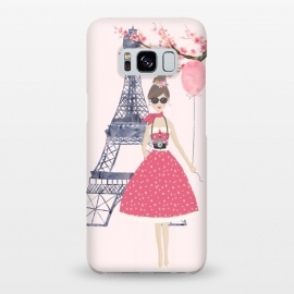 Galaxy S8+  Trendy Girl in Spring in Paris by DaDo ART