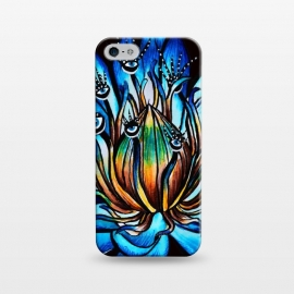 iPhone 5/5E/5s  Bizarre Multi Eyed Blue Water Lily Flower Monster by Boriana Giormova